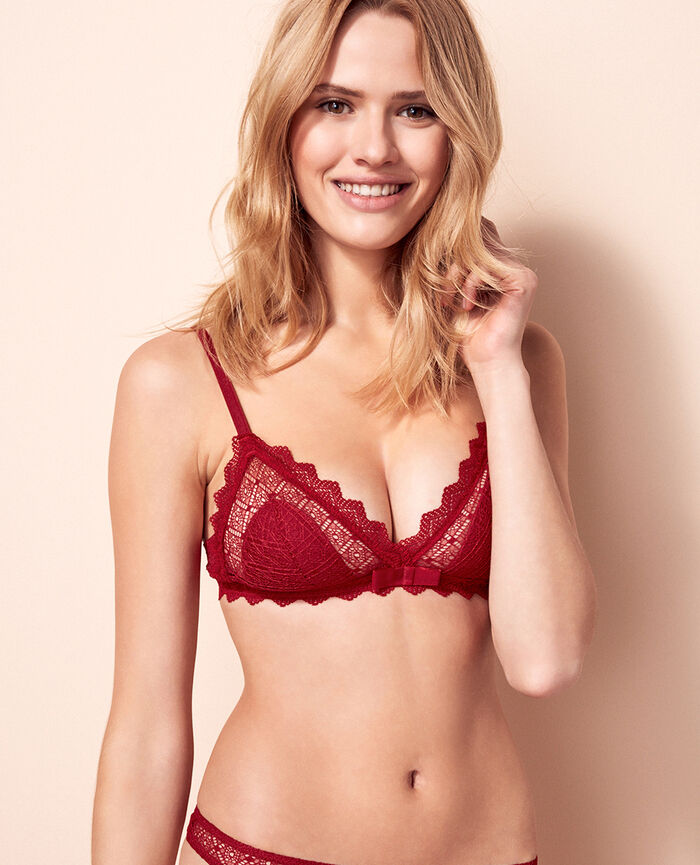 Soft cup bra Goji red Insolente