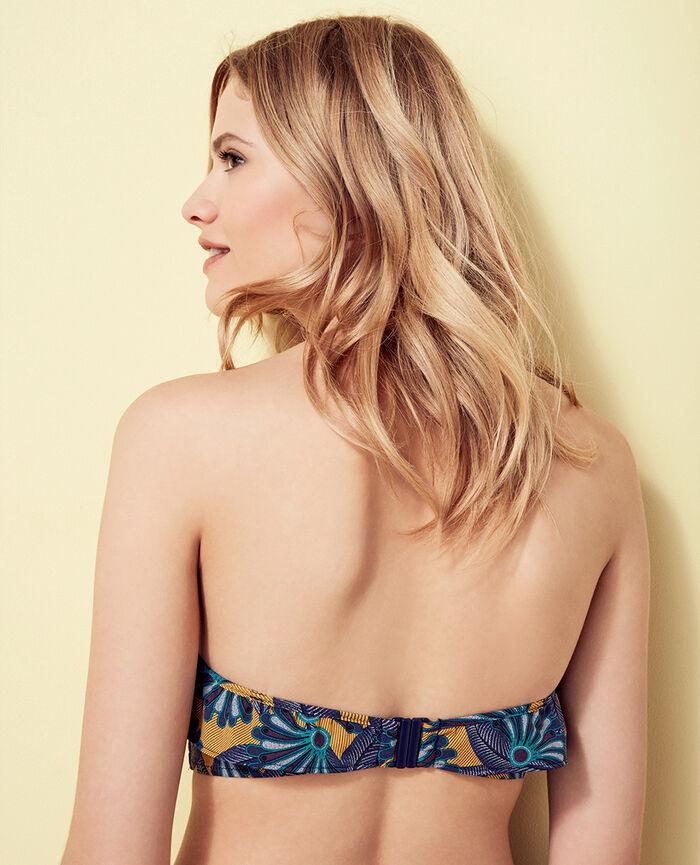Bandeau-Bikini-Oberteil ohne Bügel Bunt WAX
