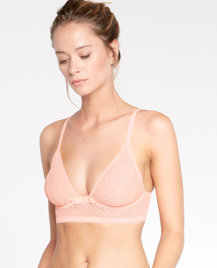 Soutien-gorge triangle mini-wire Orange magic Mina