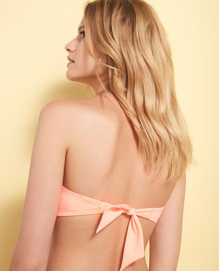 Padded strapless bikini top Cheeky orange Mix & match