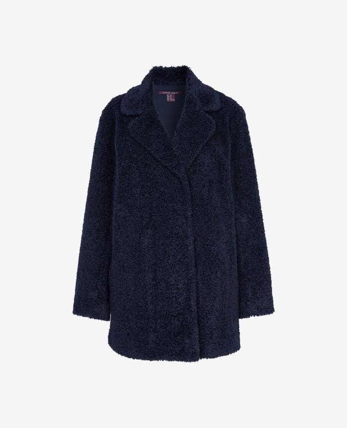 Medium-length jacket Abyss blue Fluffy