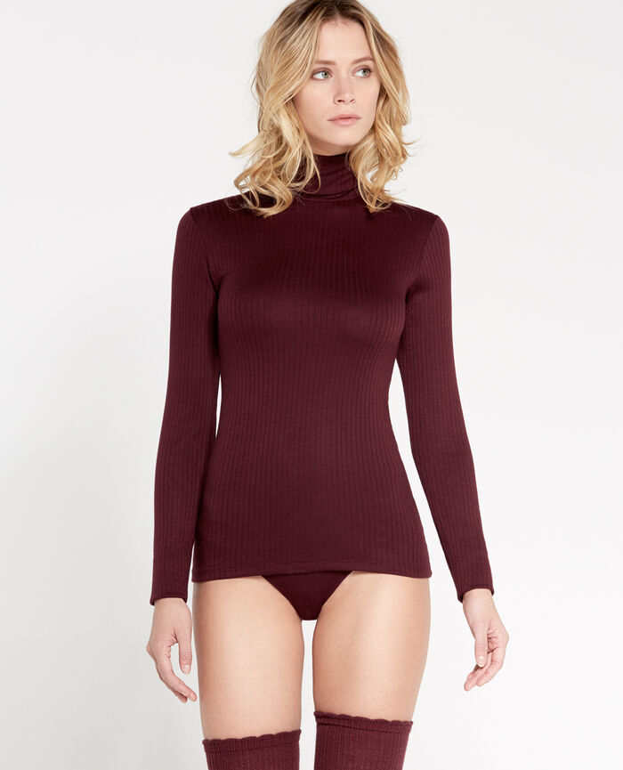 INFINITY Royal chocolate Top with turtle neck