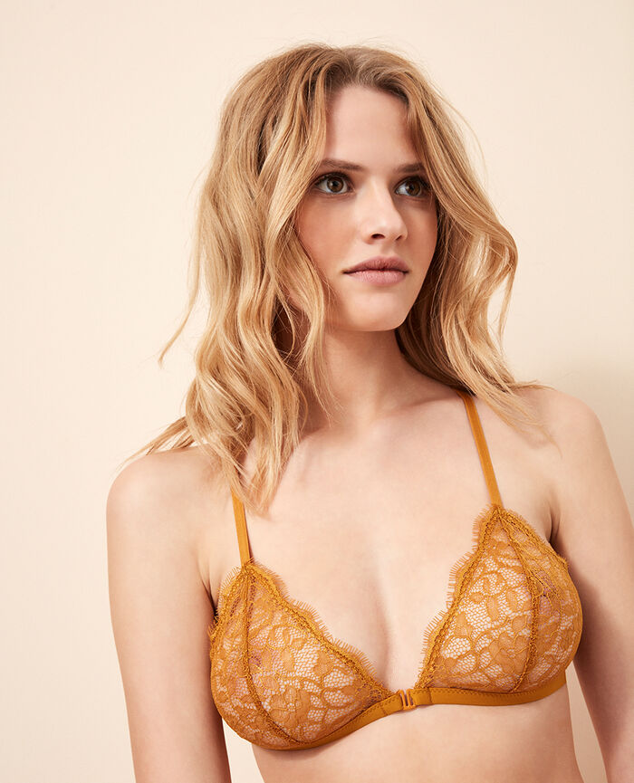 Soft cup bra Turmeric brown Taylor