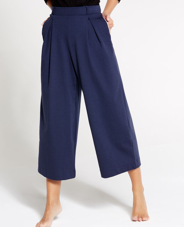 NEPTUNE Abyss blue Gaucho pants