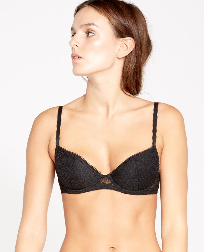 VERTIGE Black Padded push-up bra