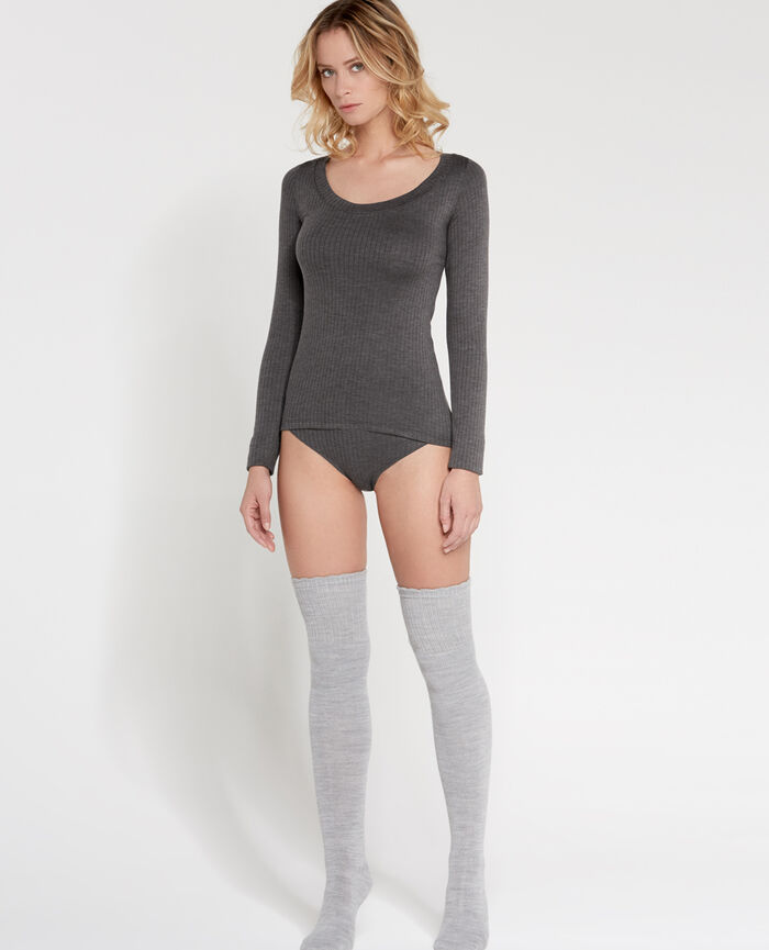 INFINITY Flecked grey Long-sleeved t-shirt