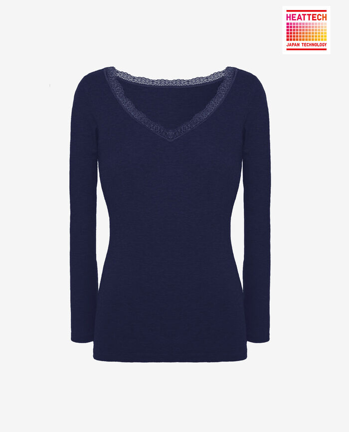 Top mit 7/8-Ärmeln Manhattan Blau LOVELY