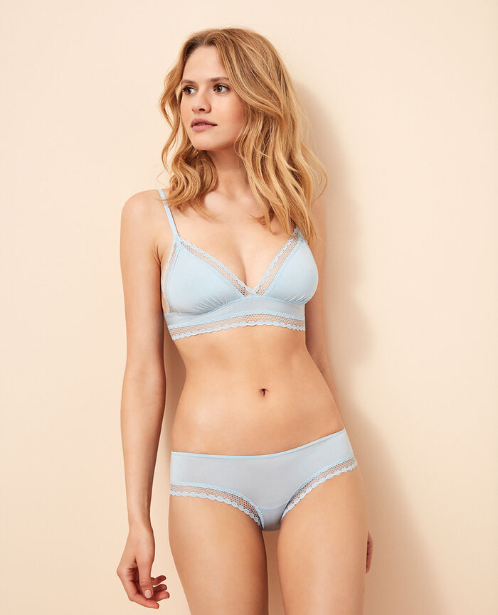 Brasilianischer Shorty Wolkenkratzerblau AIR LINGERIE