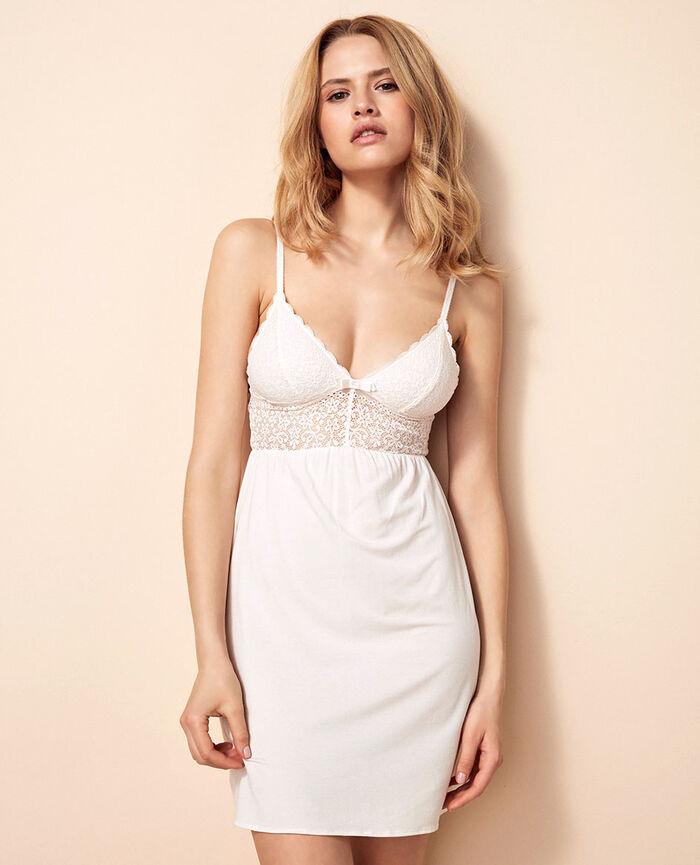FLORA Rose white Short nightie