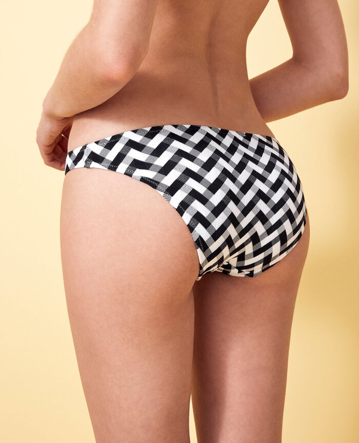 High-cut bikini briefs Black Zebra