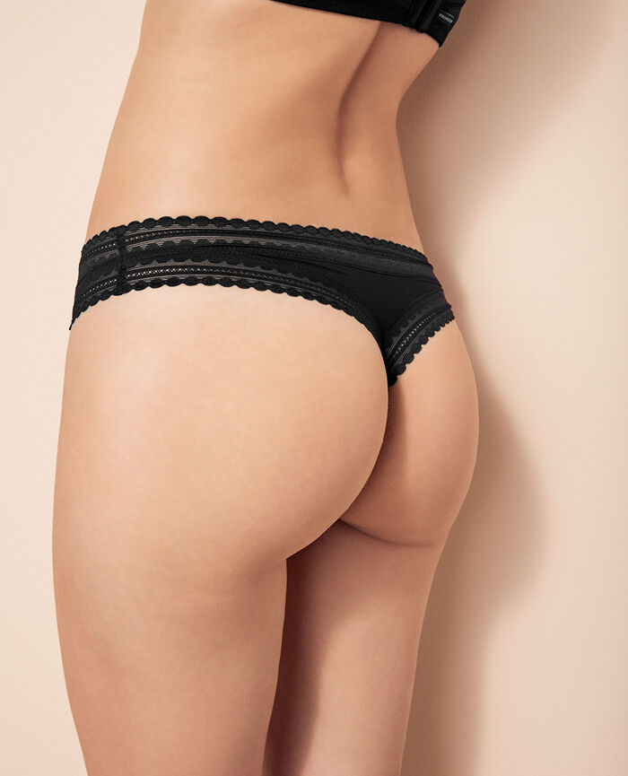 BEAUTE Black Tanga