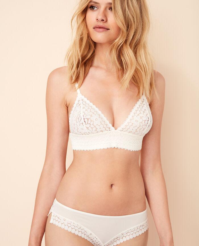 Soft cup bra Rose white Monica