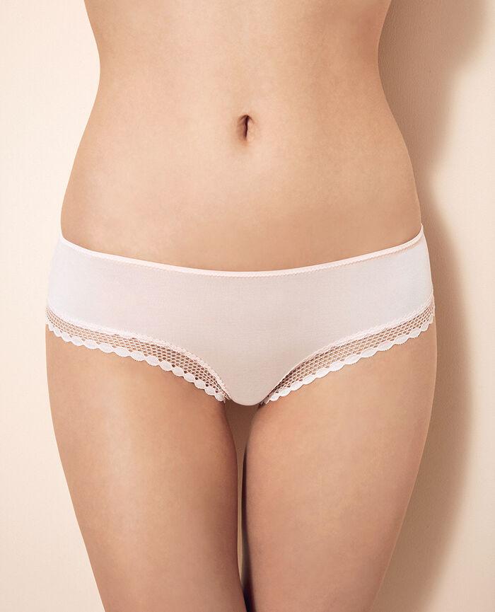 Shorty brésilien Rose plume Air lingerie