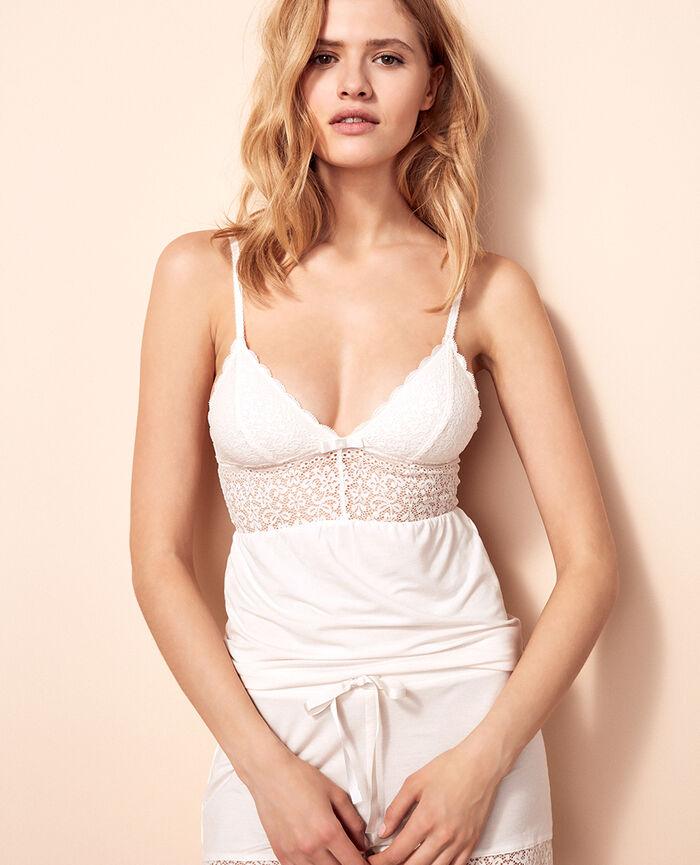 FLORA Rose white Cami