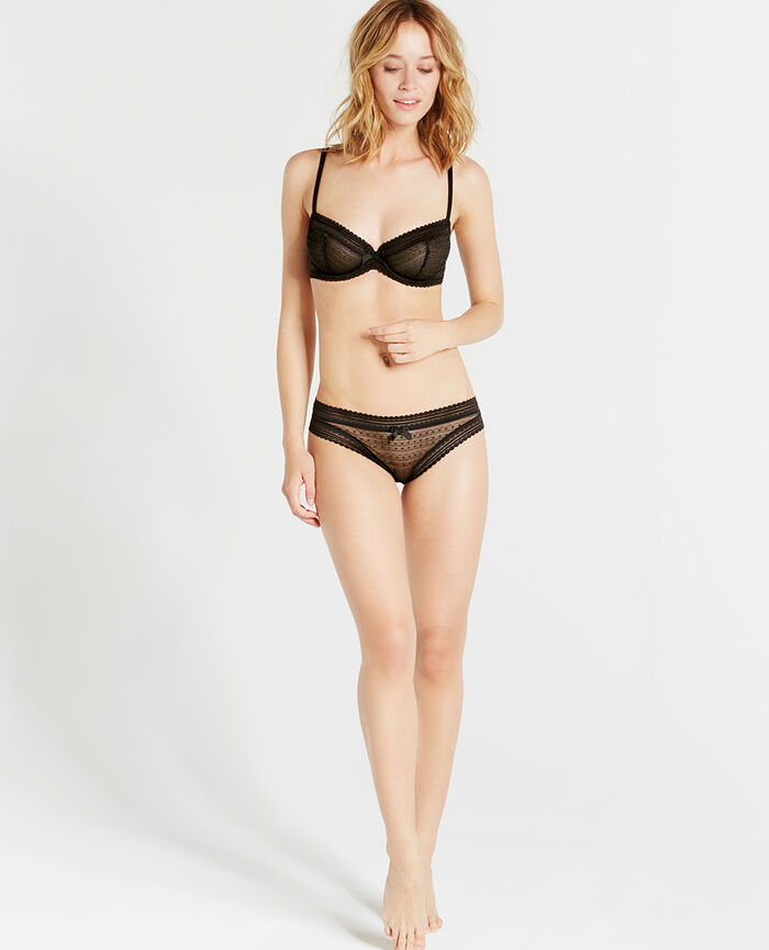 BELLE Black Hipster briefs