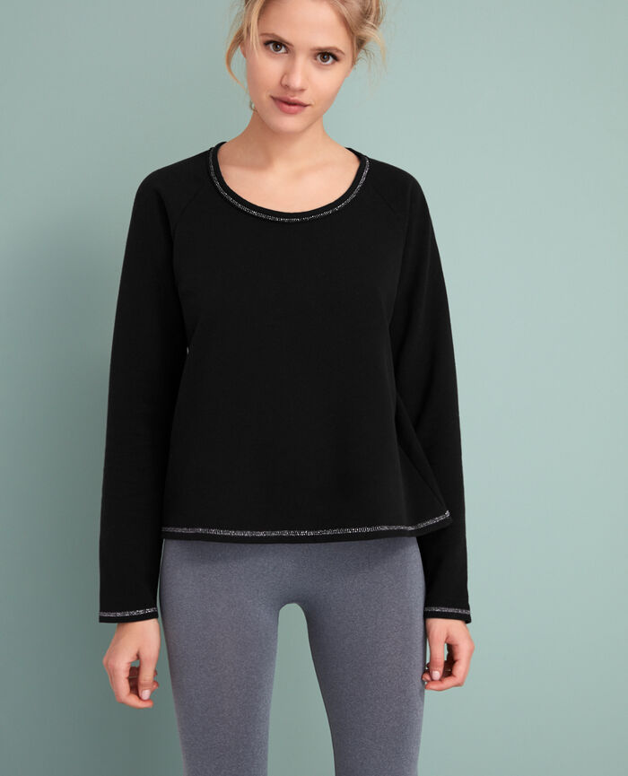 Sweat sporty Noir Moove