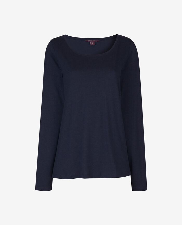 DEMY Navy Long-sleeved t-shirt