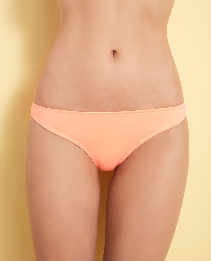 Culotte de bain échancrée Orange caprice Mix & match