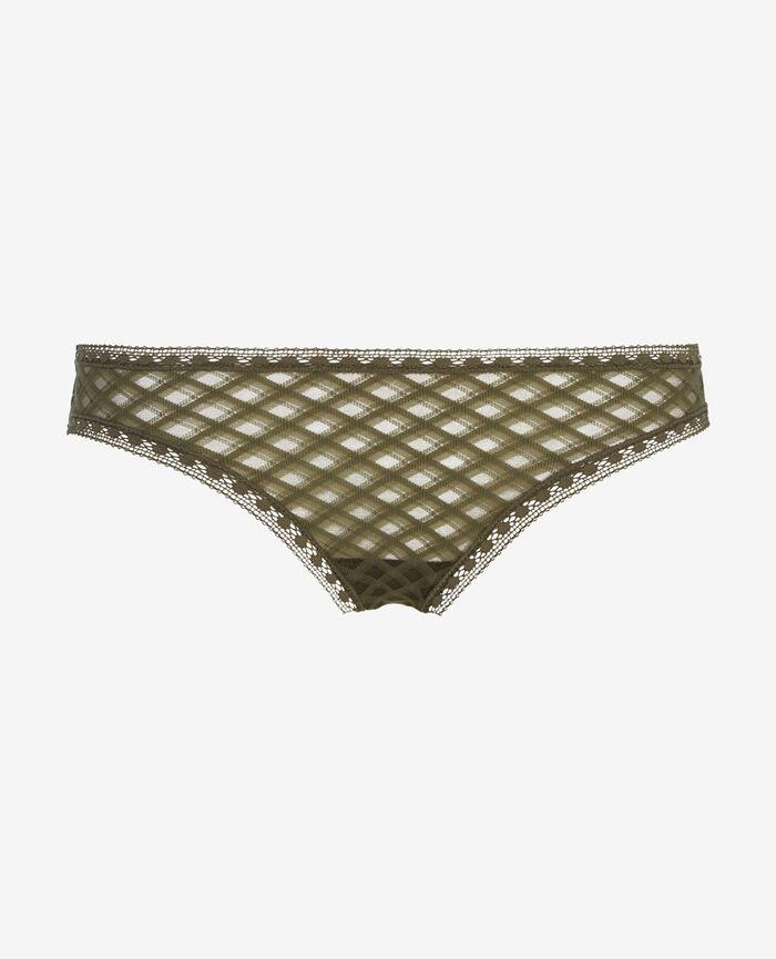 ANNIKA Vert army Culotte taille basse