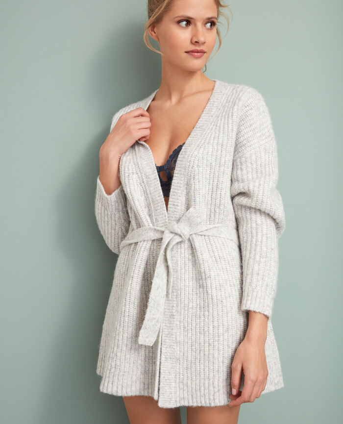 Long-sleeved cardigan Light grey Moka
