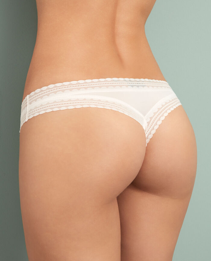 BEAUTE Rose white Tanga