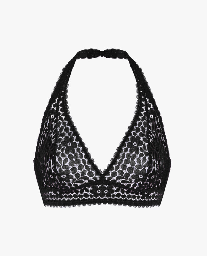 Backless triangle bra Black Monica