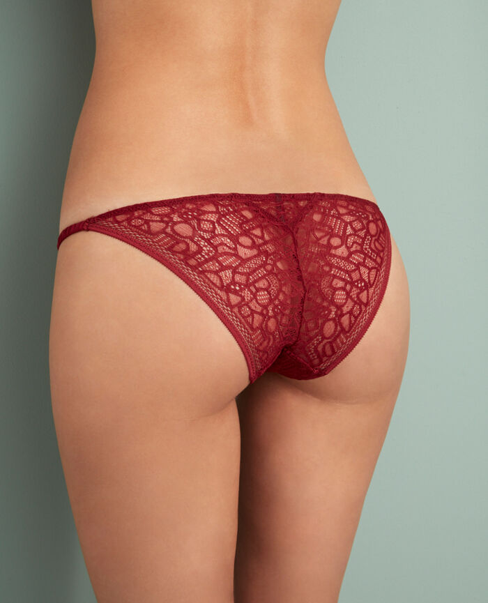 Hipster briefs Leather red Manhattan