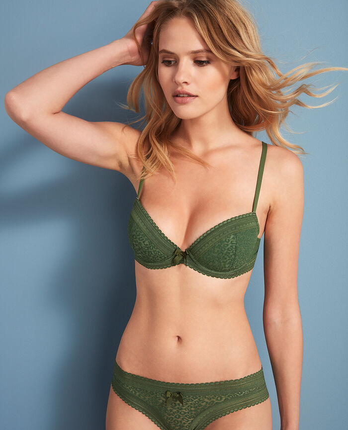 Soutien-gorge push-up mousses Vert agency Belle