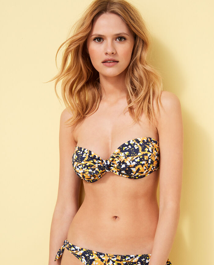 Padded strapless bikini top Multicolour Weba