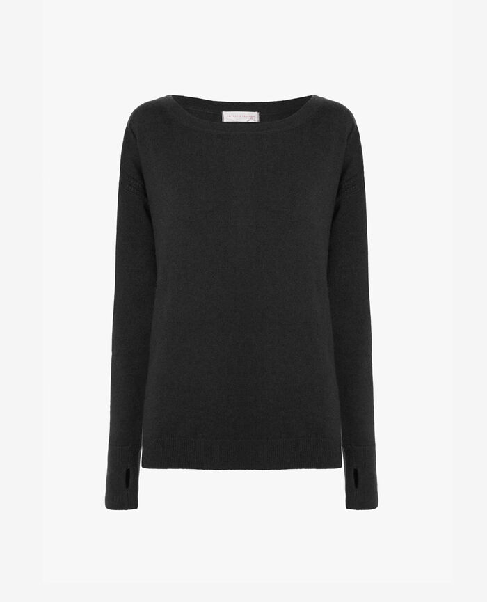 Pull col bateau Gris anthracite Cozy