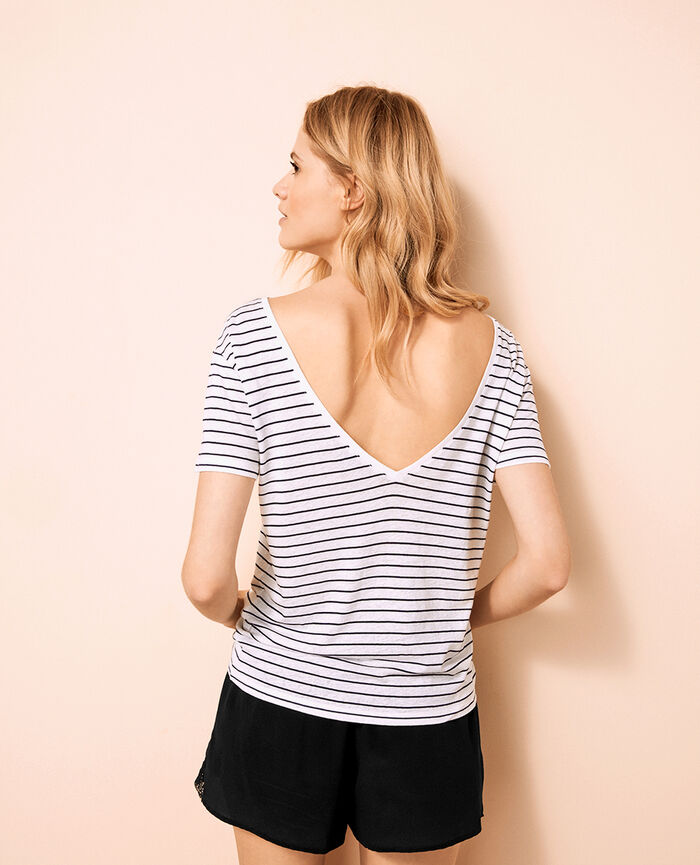 Short open back t-shirt Multicolour Ideal