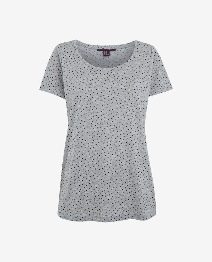 Short-sleeved t-shirt Flecked grey Dot