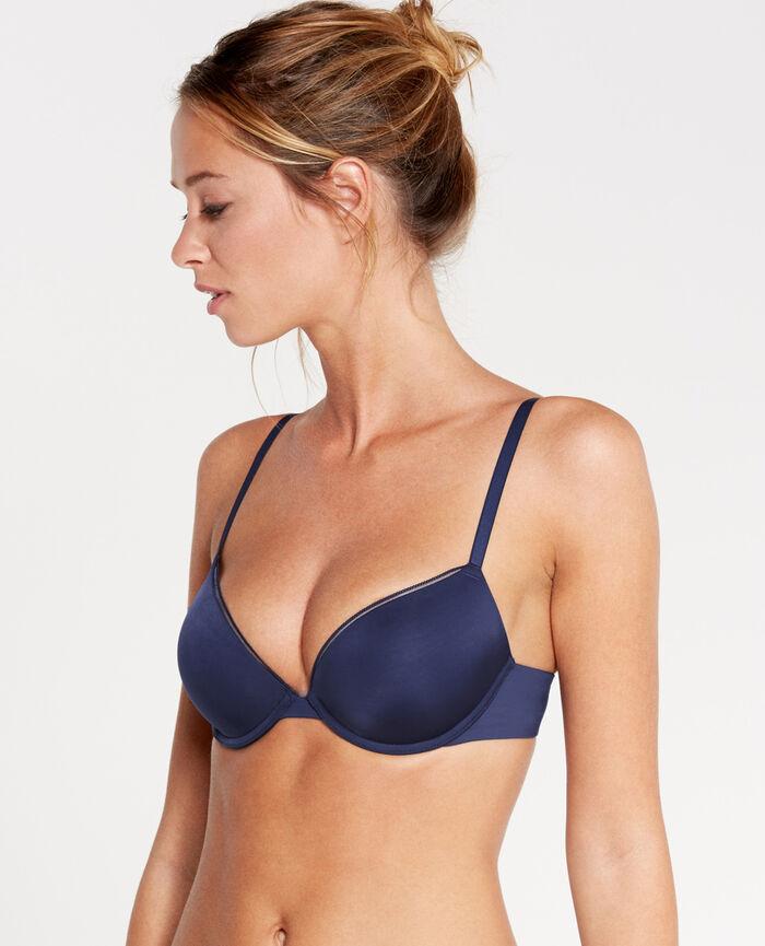 MAKE UP Navy Contour push-up bra