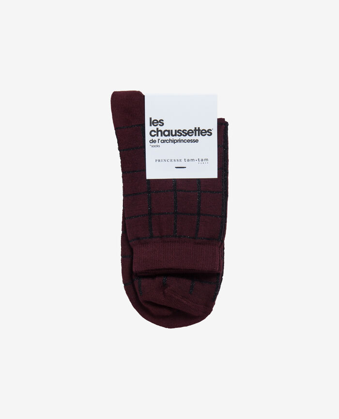 Socks Royal chocolate Check