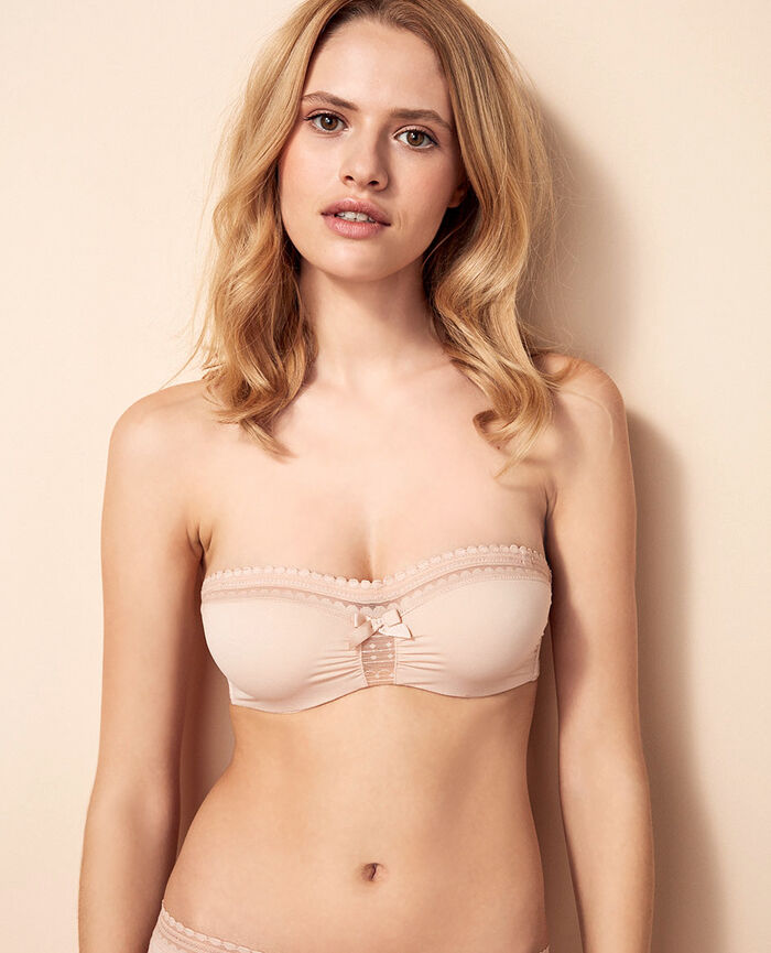 BEAUTE Powder Strapless bra