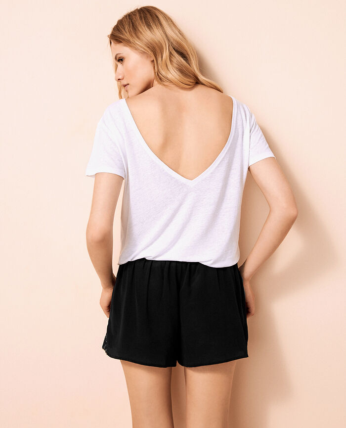 Short open back t-shirt White Ideal