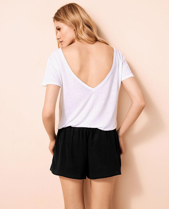 Short open back t-shirt White Ideal