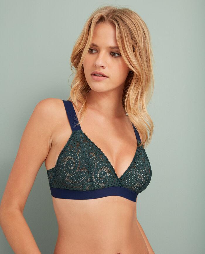 Soft cup bra Story green Metropolitan