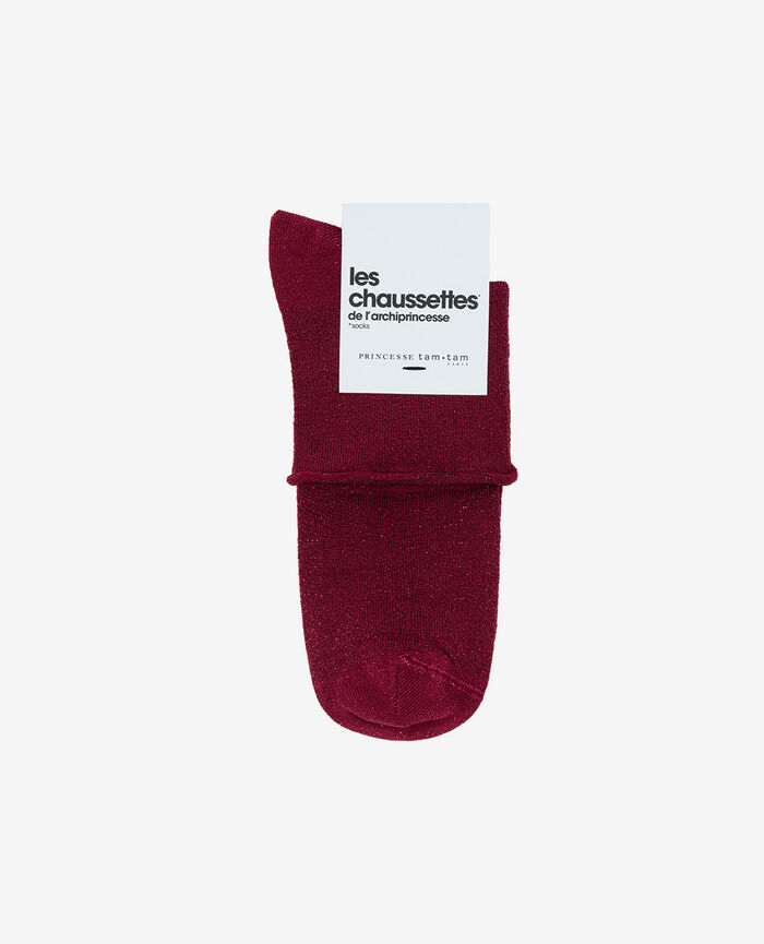 Socks Sangria red Pearl