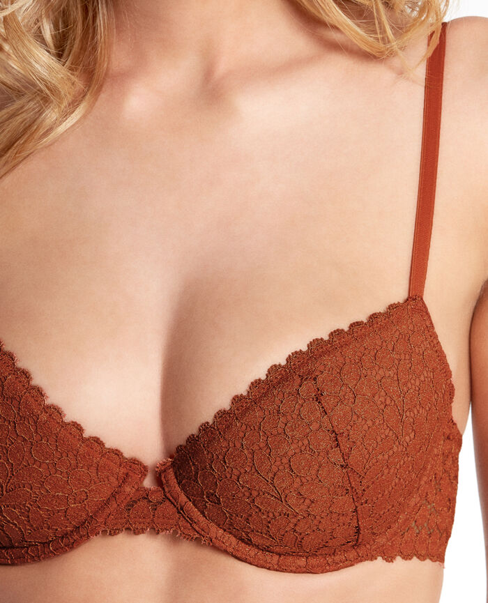 MOVICA Movica red Half-cup padded bra