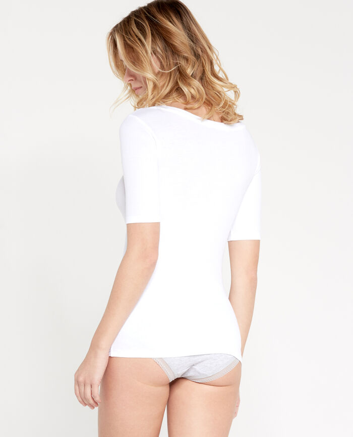 RICKY Blanc T-shirt manches courtes