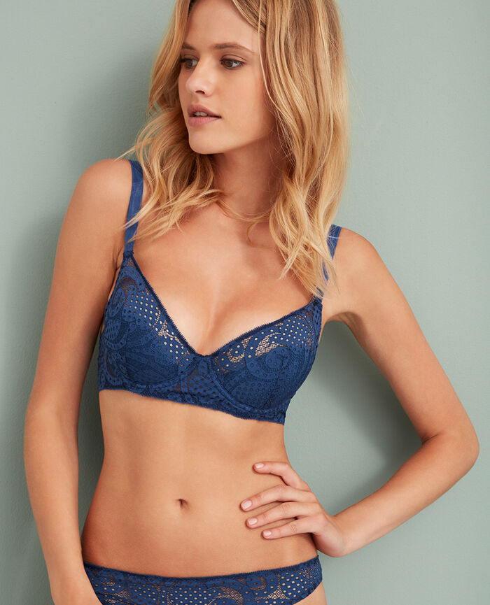 Demi push-up bra Jersey blue Metropolitan