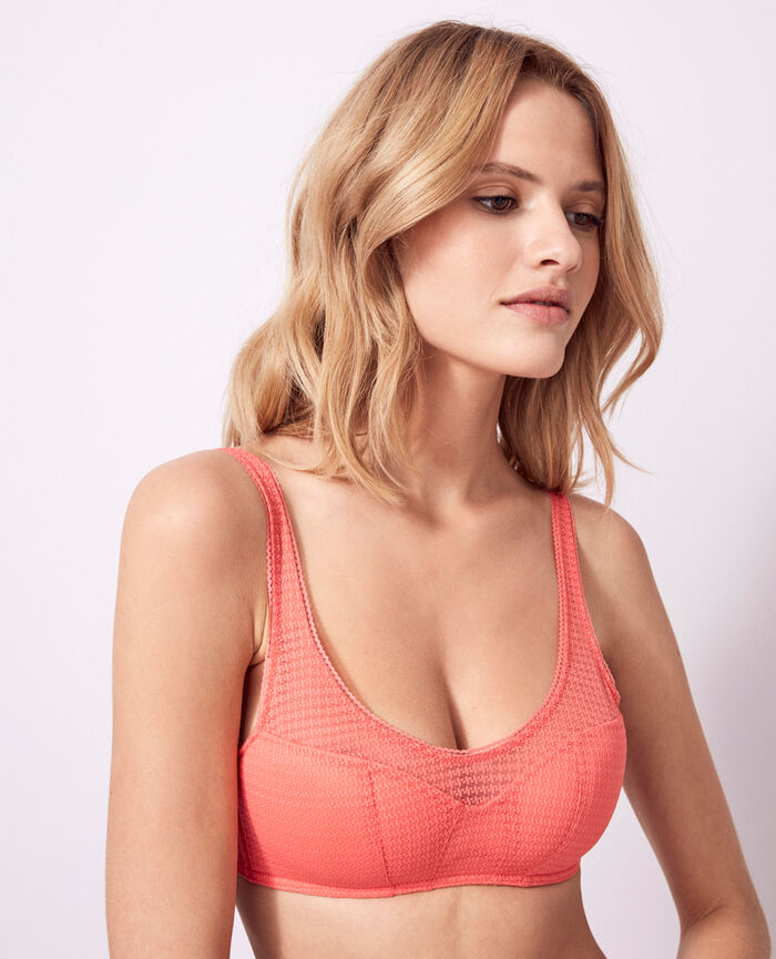 Soft push-up bra Funky pink Fetiche