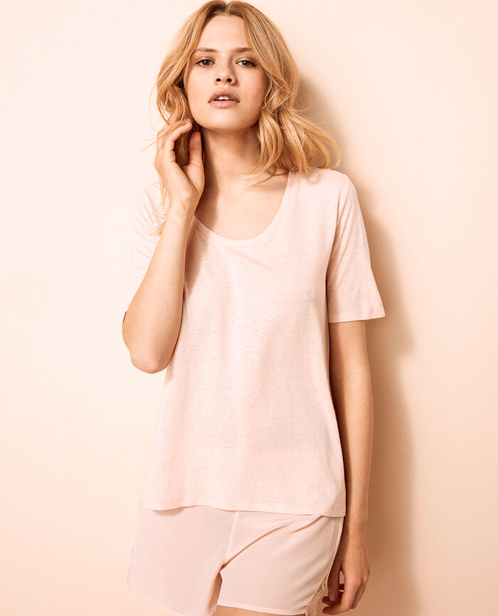Short-sleeved t-shirt Nude beige Ideal