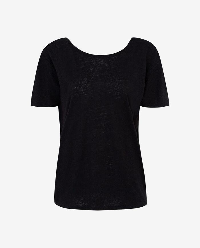 T-shirt court dos ouvert Noir Ideal