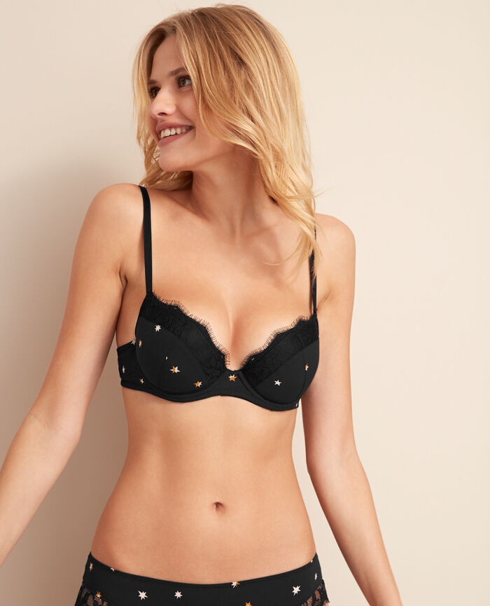 Soutien-gorge push-up mousses Nova noir Magic