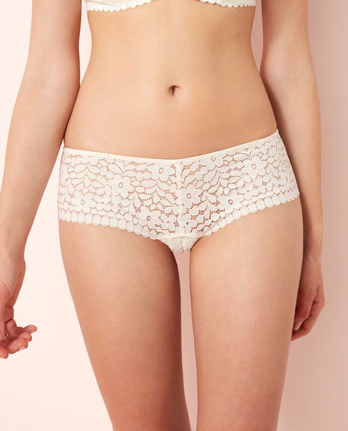 MONICA Rose white Brazilian briefs