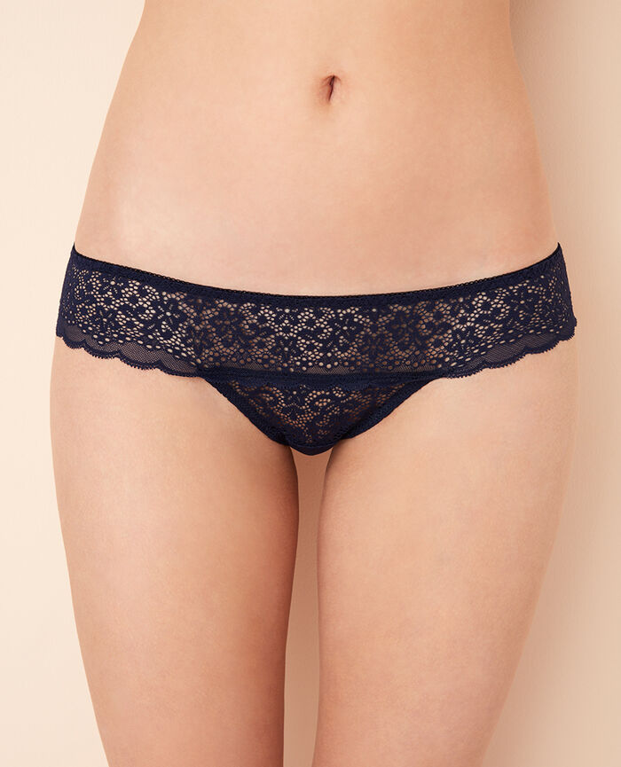 High-cut briefs Navy Flora