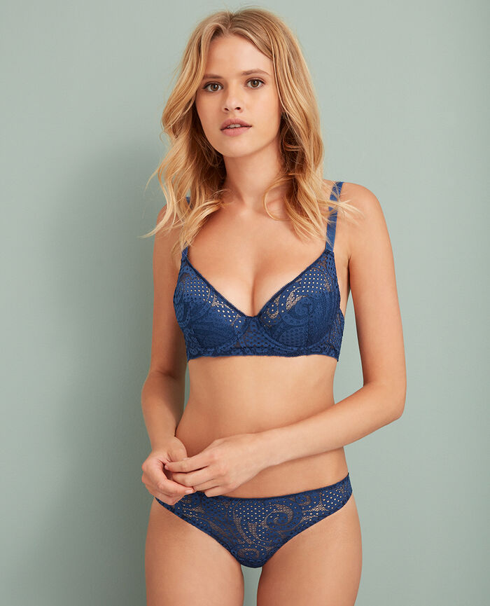 Demi push-up bra Jersey blue Metropolitan
