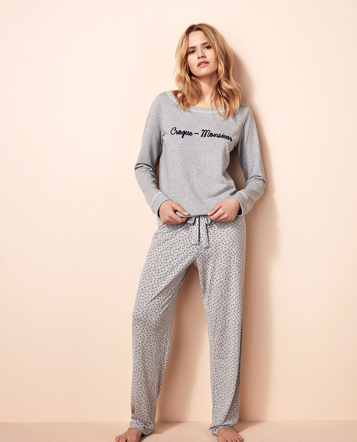 Sweater Flecked grey Funny